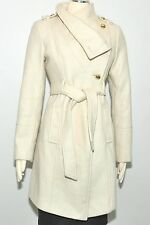 Guess coat Wool Military Asymmetrical belted 3/4 Length stylishjacket $269 NEW
