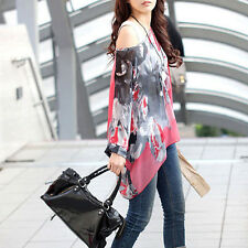 Fashion Women Boho Style Chiffon Loose Shirt Casual Chiffon Tops Nice