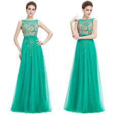 UK Long Formal Evening Prom Party Dress Bridesmaid Dresses Ball Gown Cocktail