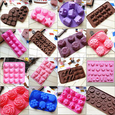 New Chocolate Cake Cookie Muffin Jelly Baking Silicone Bakeware Mould Mold 024f