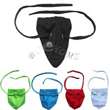 Men's Thong Briefs Penis & Ball Open Bag Pouch Underwear Tie String Underpants