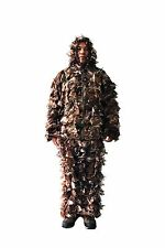 Leaf Camo Blind Jacket Pants Set 3D Military Camouflage Ghillie Suit Woodland