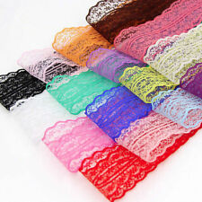 Bulk 10yards 45mm Fabric Embroidered Lace Bilateral Trim Ribbon Sewing 5Colors