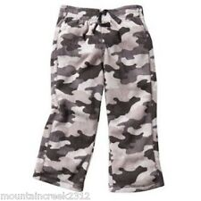JUMPING BEANS Boys Pants Size 3 months Camouflage Microfleece Gray NEW