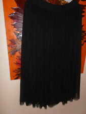 Yong Kim Layered Mesh Skirt Black Size 12 Elasticated Waist