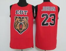 Michael Jordan #23 High School EBT Stitches Swen Red Jersey New With Tags  S-2XL