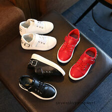 New Toddler Girls Boys Casual Shoes Kids Sport Sneakers Rivet Flats Shoes Size