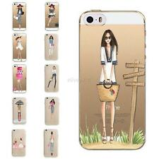Ultra Girls Pattern Soft TPU Case Cover For iPhone 5 5S 5C 5SE iPhone 6/6S Plus