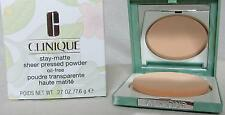 NEW CLINIQUE STAY-MATTE SHEER PRESSED POWDER OIL-FREE ALL COLORS