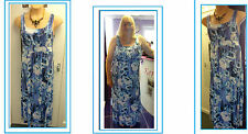 NEW Blue Floral *STRETCH* Summer Maxi Dress PLUS SIZE 22-24 26-28 evans yours be