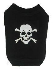 Skull design , bad to the bone,  small dog T-Shirts  for Halloween, 100% cotton