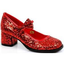 NWT-Girls Dorothy Wizard of Oz Red Sequin Ruby Slippers Heels Shoes-S, M, L & XL