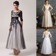 Vintage Style LACE Long Wedding Prom Bridesmaid Dress Evening Cocktail Party