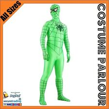 Green Spiderman Skin Suits Spider Man Super Hero Zentai Suit Fancy Dress Costume