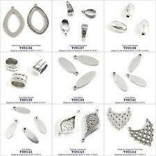 Jewelry Making Findings Oval Drop Cabochon Blank Bails Tags Sings Connector Bead