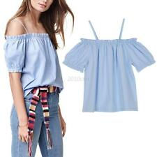 Women's Sexy Off Shoulder Tops Summer Blouse Lady Casual Tops Loose T-shirt Tank