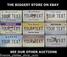 US USA State License Plate Number Plate Custom Alu Embossed Your Name Text Range