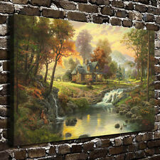 Art Painting Mountain Retreat HD Print on Canvas Modern Deco Wall,(NO Stretch)