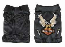 Dog jacket, Faux leather tank style coat Eagle design leather tanks  XS - XXL