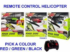 AIR HOGS AXIS 200 REMOTE CONTROL HELICOPTER - PICK RED, GREEN OR BLACK