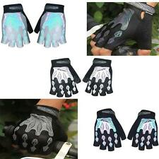 Outdoor MTB Road Cycling Bike Bicycle Reflective Gel Short Fingerless Gloves