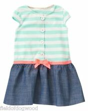 NWT Gymboree ice cream parlor Stripe Bow Chambray Dress 4T 5T Girl