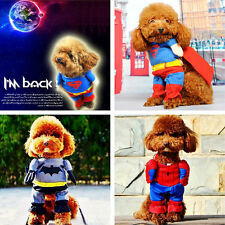 Pet Dog Superman Batman Spiderman Costume Halloween Clothes Cosplay Outfit BPM