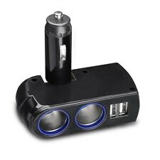 For AT&T PHONES - 2-PORT USB DUAL SPLITTER CAR CHARGER SOCKET DC POWER ADAPTER