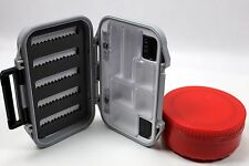 Jig/Fly Box W/Compartments and Insulated Bait Puck Combo Pack Ice Fly Fishing