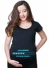 Loading Please Wait Pregnancy Maternity T-shirt Gift for future mommy maternity