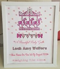 Personalised Boy Girl New Baby,Birth, Christening,1 Birthday Frame Gift Keepsake