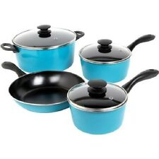 Sunbeam Armington 7 Piece Cookware Set Glass Lids Dishwasher Safe Choose Color