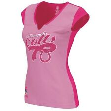 Reebok Womens Indianapolis Colts BCA Ribbon Tailsweep Shirt PINK Breast Cancer