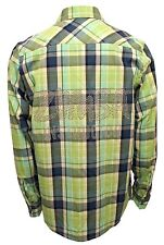 Zumba Unisex Convention Exclusive Instructor Studded Flannel Shirt Jungle Green