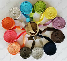 """25mm 1"""" Cotton Colour Herringbone Tape Webbing Apron Sewing Trimming Bunting"""