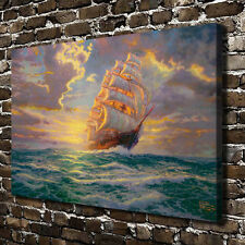 12X18 Oil Painting Courageous Voyage,HD Art Print on Canvas Home Deco(Unframed)