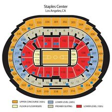 2 Section 301, Row 5 Lakers Season Tickets 2016-2017 Staples Center Los Angeles