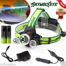 10000 Lumen Headlamp CREE XM-L 3 x T6 LED Headlight 18650 Light Charger Battery
