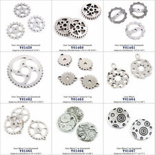 Antique Silver Tone Jewelry Making Charms Gear Gearwheel Cog Steampunk Crafts
