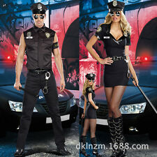 Couple Halloween Cosplay Costume Lover Police Cop Uniform Party Club Costume Set