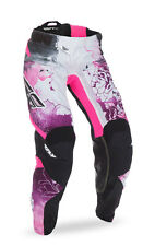 FLY RACING MX MTB BMX Girls 2017 Kinetic Race Pants (Pink/Purple) Choose Size