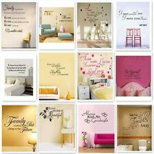 Removable Art Vinyl Wall Sticker Decal Mural Home Room Decor Quote Word Poem uf
