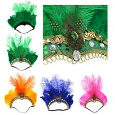 Feather Fascinator Flapper Headband Elastic Head Band Performance Headdress