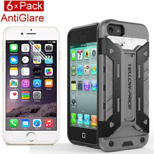 For iPhone 5 5S EXTREME Protection Armor Case+Matte Screen Protectors(6Pack)