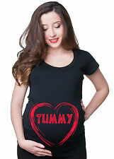 Tummy Maternity Pregnancy T-shirt Belly Tummy Tee shirt Pregnancy t-shirt gift