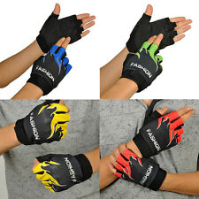 Sports Bicycle Cycling Biking Hiking Protect Gel Half Finger Fingerless Gloves