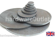 "10 mm 3/8"" Round Blank Disc Mild Steel Plate Sheet 10.0 mm Thick 40 - 300 mm Dia"