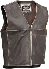 River Road Drifter Classic Street Riding Leather Motorcycle Vest