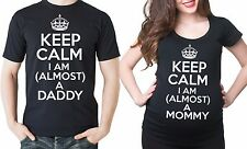 Almost a Daddy Almost a Mommy Pregnancy T-shirts Dad and Mom Maternity Tee shirt
