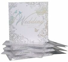 Pack Of 36 Simon Elvin Wedding Evening Invitations - Silver Scroll Design -